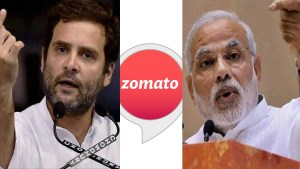 zomato offers cashbacks to customers who predict the next PM.