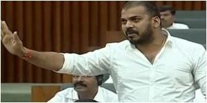 Andhra pradesh minister anil kumar yadav criticized nara lokesh in assembly.