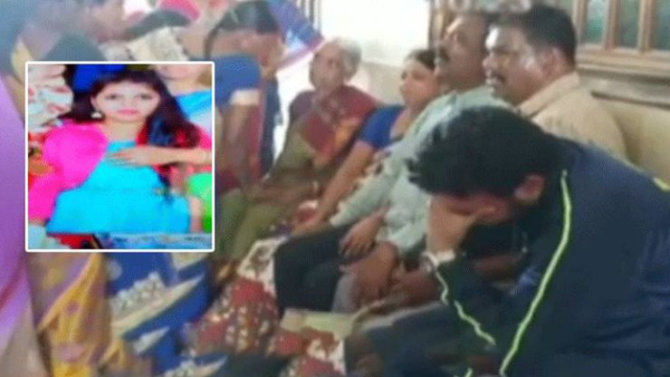 Ninth grade student died of jumping from the top floor of school in hyderabad.