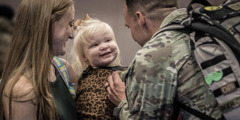 soldiers and families