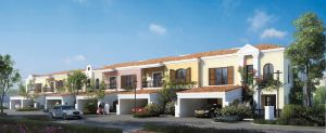 Front view rendering of the townhouses in Green Community West Phase 3 in DIP