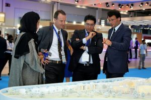 MAG Property Development CEO Talal M Al Gaddah presenting the flagship MAG of Life project at Cityscape 2016 Dubai.