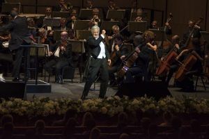 Placido Domingo takes to the stage at the first night of the Dubai Opera. (PRNewsFoto/Dubai Opera)