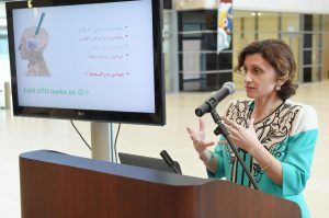 Dr Fatme Al Anouti During Her Presnetation