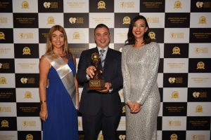 General Manager, Mr Karim Bizid at the World Travel Awards (PRNewsFoto/The Oberoi Hotel)