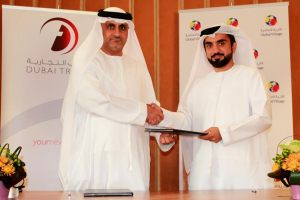 During the signing between Eng. Mahmood Al Bastaki, CEO of Dubai Trade and Ahmad Hussain Bin Essa, CEO of Global Village