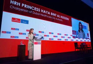 Chairperson of Dubai Healthcare City Authority HRH Princess Haya Bint Al Hussein, wife of HH Sheikh Mohammed Bin Rashid Al Maktoum, Vice-President and Prime Minister of the UAE and Ruler of Dubai