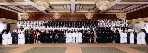 Pictured are more than 300 graduates from Etihad Airways' Future Leaders Programmes during last night's graduation ceremony.
