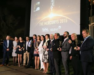 The Mercurys winners celebrating at last year's SIAL event at the Shangri-La hotel in Abu Dhabi