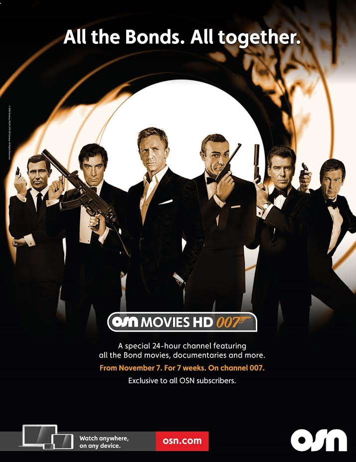 OSN serves up a 7- week Bond spectacular on its new dedicated 007