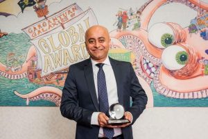 Satyen Adhikari Senior Creative Director, The Classic Partnership receives the award