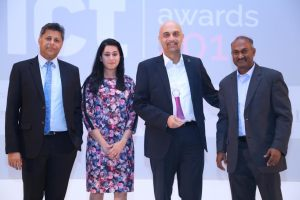The eHosting DataFort team with the ICT Achievement award
