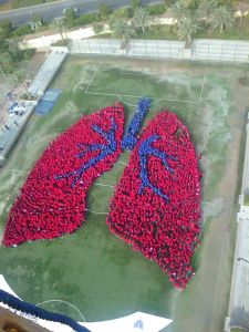 World's Largest Human Image of an Organ - GEMS Cambridge students