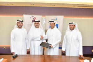 During the signing between Eng. Mahmood Al Bastaki, CEO of Dubai Trade and Arif Obaid Al Dehail, CEO of Trakhees.