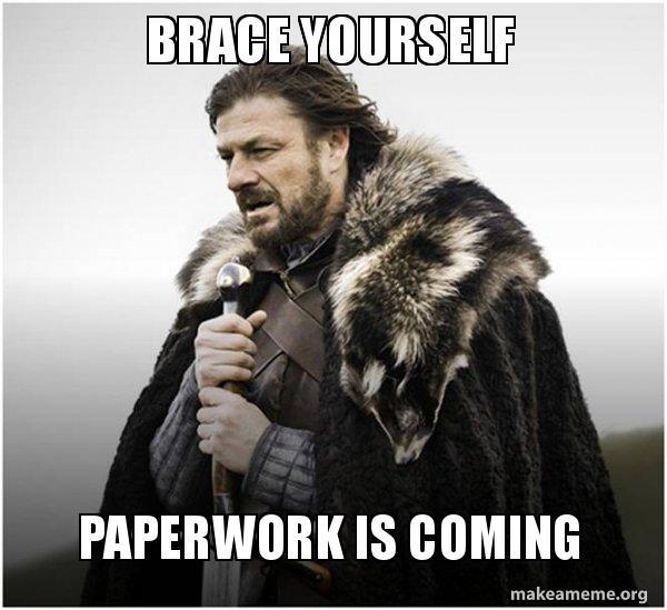 paperwork Game of Thrones Meme
