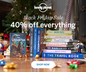 Lonely Planet 40% off everything on Black Friday