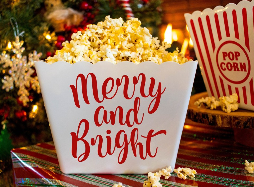 Christmas Dinner Party Popcorn Bucket