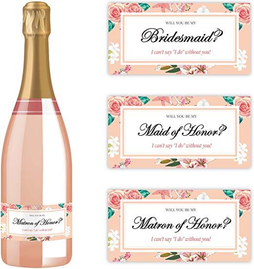 Bridesmaid Bottle labels