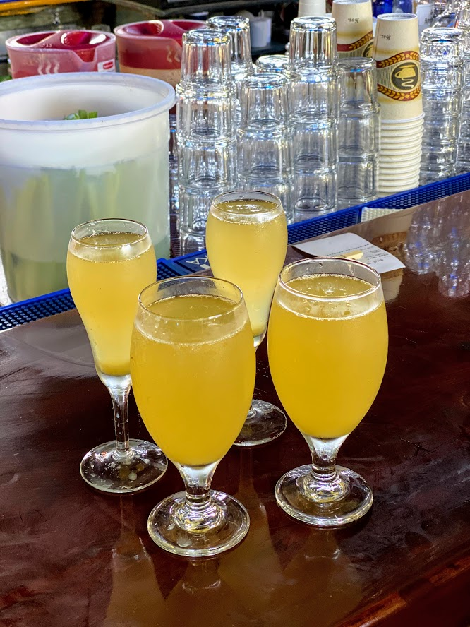 Mimosas at Blue Heaven in Key West