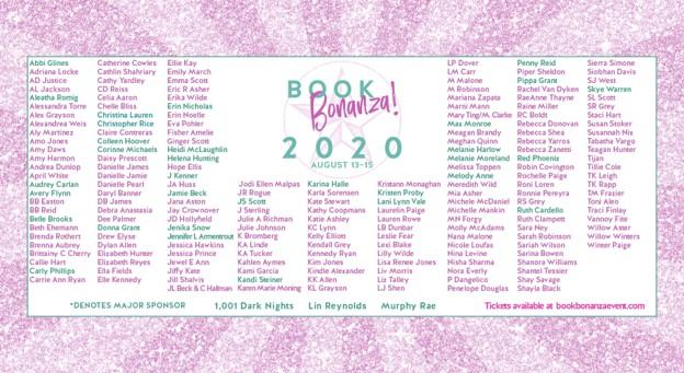 Book Bonanza Author Line Up