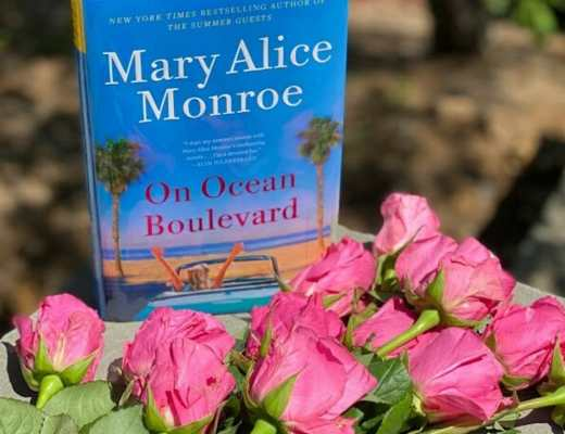 On Ocean Boulevard Book with Roses