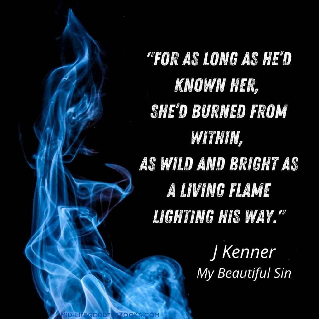 flame and quote