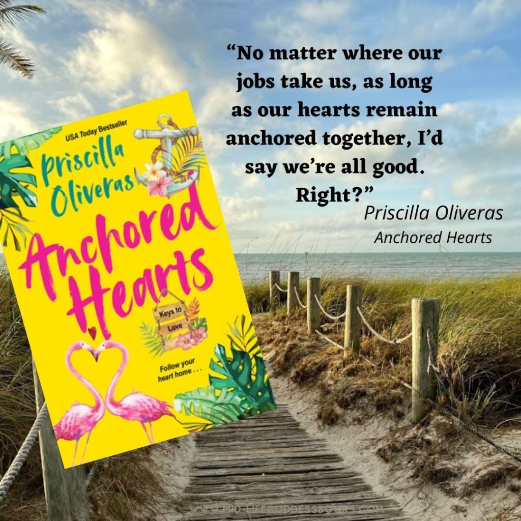 beach with Anchored Hearts book quote