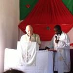 Pastor Tews preaching, Tanzania
