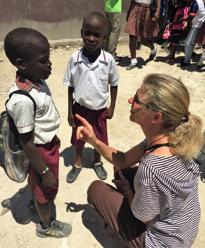 Beckie Rathke, a Lutheran school teacher and volunteer for Trinity HOPE,