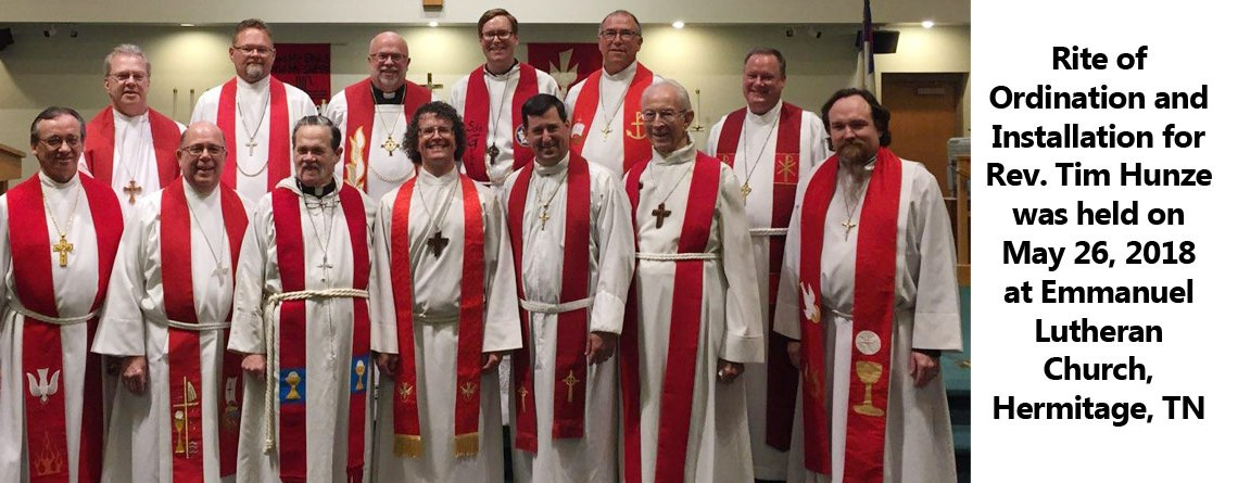 Ordination and Installation for Rev. Tim Hunze