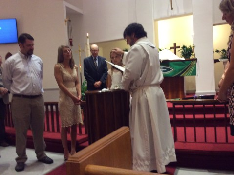 Celebrating at Christus Victor Lutheran Church— Baptism and New Members