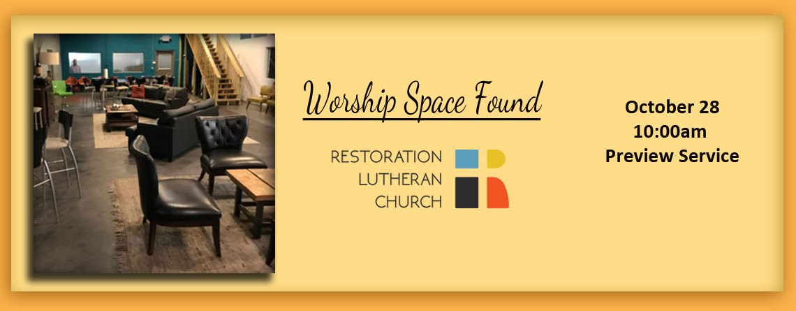Restoration Lutheran Church Announcement