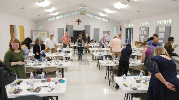 Concordia Lutheran Church grab bag assembly line -1