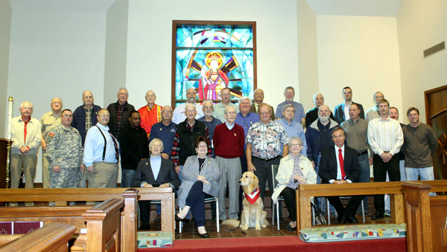 Veterans at School Chapel