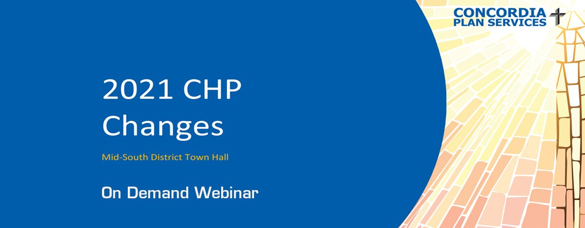 CPS Webinar – Health Plan Changes for 2021