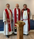 Rev. Paul Kritsch, President Roger Paavola, and Rev. Robert Portier the Circuit Visitor for the Knoxville Circuit.