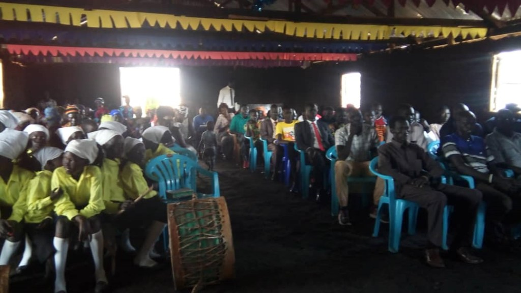 Newly established Nimule, South Sudan, congregation taken during this year Christmas