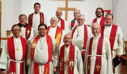 Pastors attending the installation of Rev. Maanum