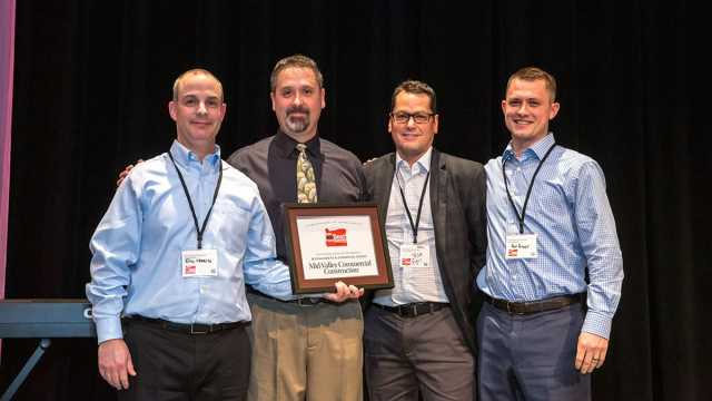 Mid-Valley Commercial Construction Awarded Top Company by Oregon Business Magazine