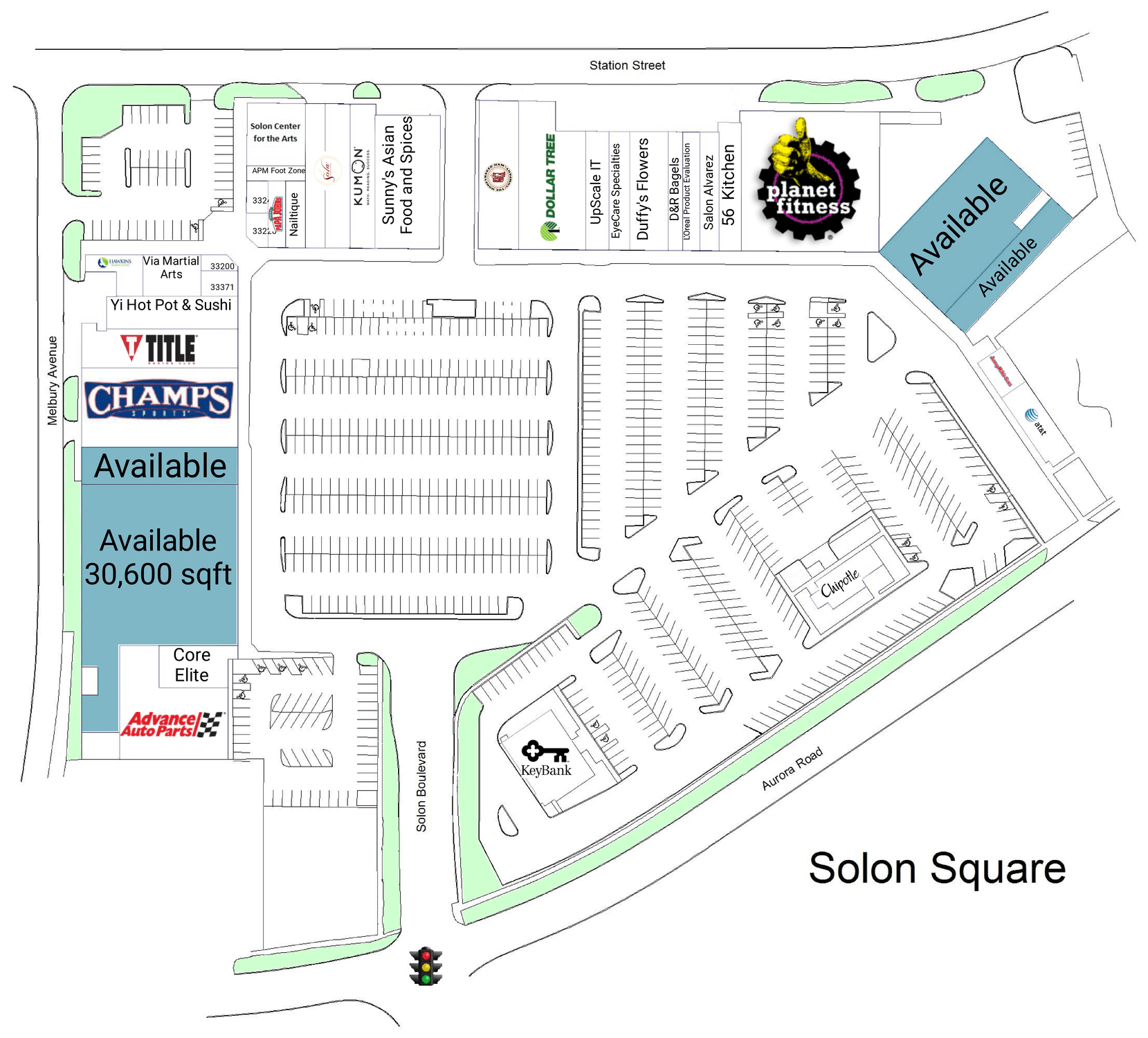 Solon Oh Solon Square  Retail Space For Lease  Mid