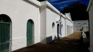 Leeuwenhof Estate painted by Midas Paints Tygvervalley in limewash bluskalk