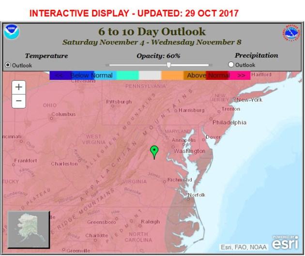 6 - 10 Day Temp Forecast