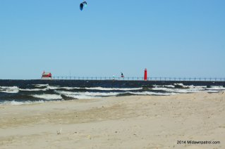 Repeat of a Sunday morning for Kiteboarding in West Michigan