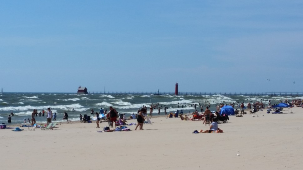 Warmest, windiest day I've had in Grand Haven