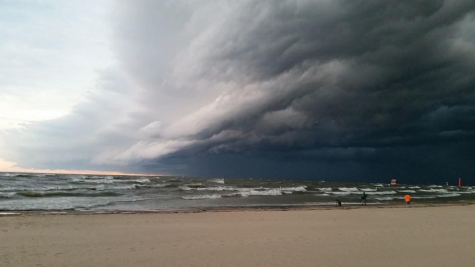 Storm rolling into Grand Haven this summer