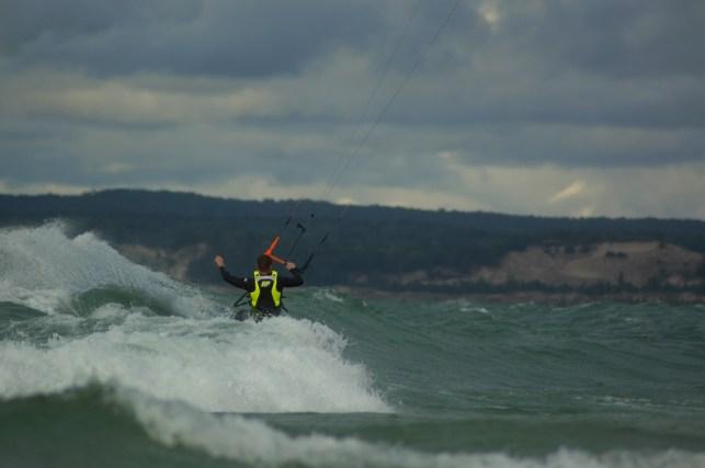 Waves were choppy at times but fun.