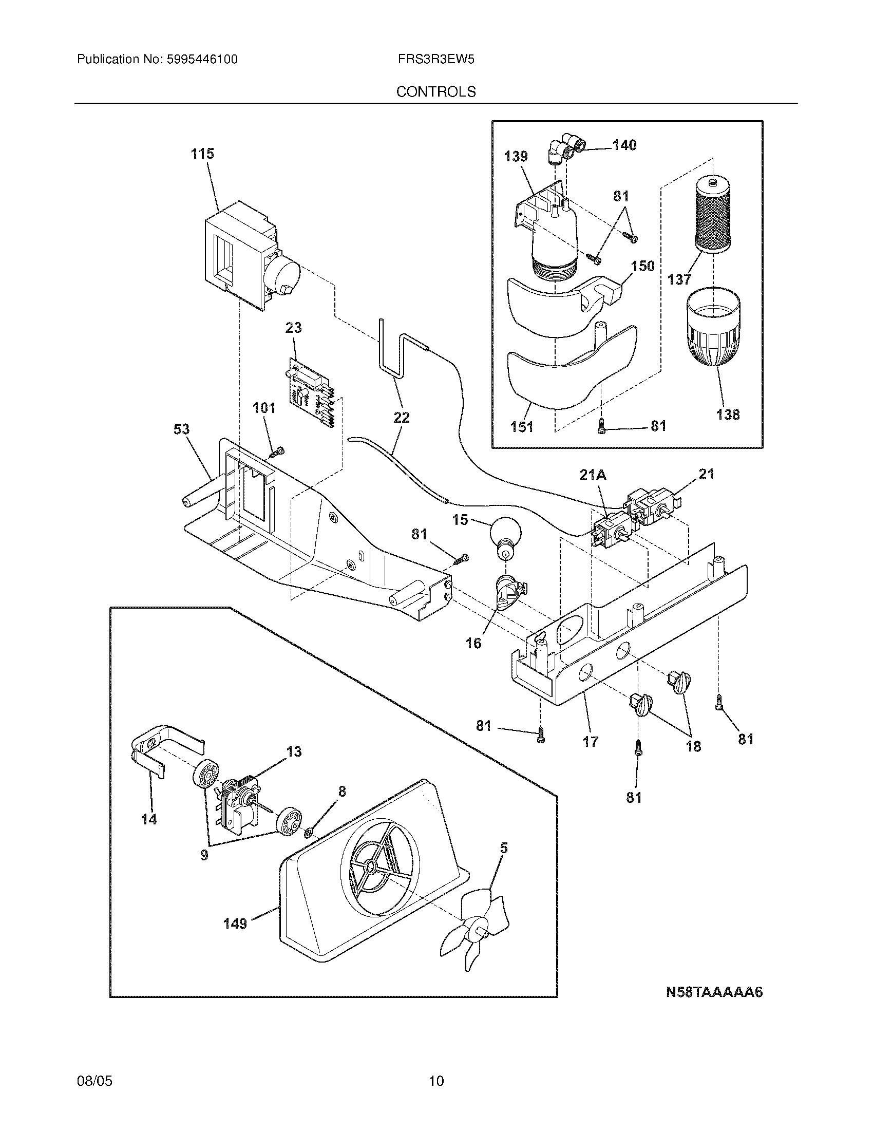 Plans et pièces pour Electrolux Refrigerator modèle