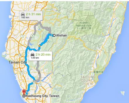 Alishan to Kaohsiung