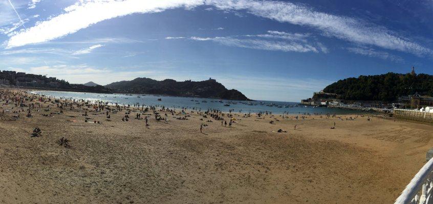 Basque in the Sun in San Sebastian