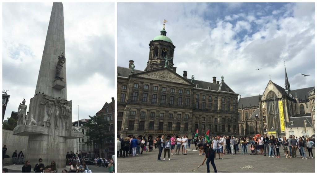Left: Dam Monument; Right: Dam Square